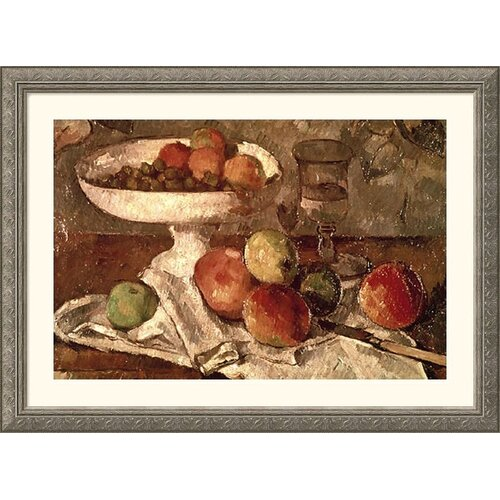 Museum Reproductions 'Still Life' by Paul Cezanne Framed Painting Print