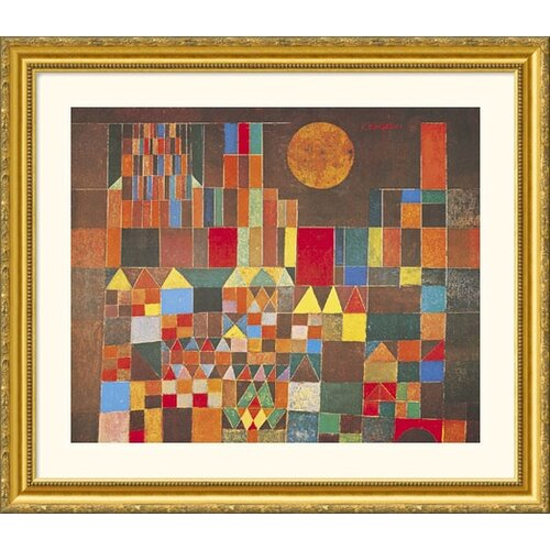 Great American Picture Museum Reproductions 'Castle and Sun' by Paul Klee Framed Painting Print