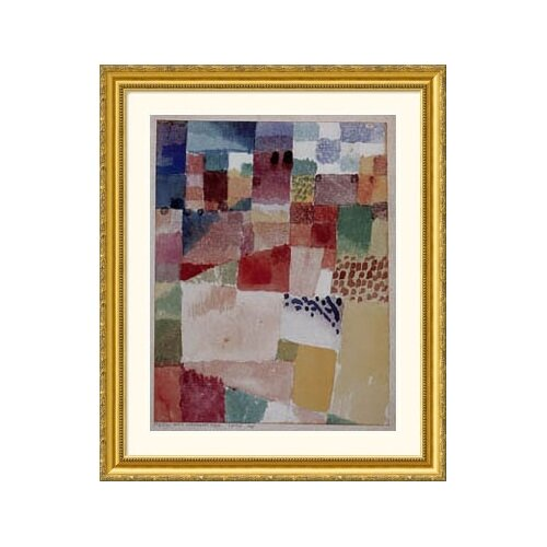 Great American Picture Museum Reproductions Motiv Aus Hammamet by Paul Klee Framed Painting Print