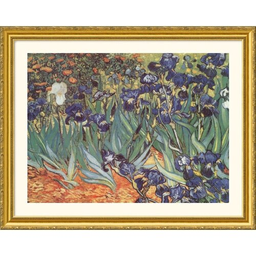 Museum Reproductions 'Les Irises (Irises)' by Vincent Van Gogh Framed Painting Print
