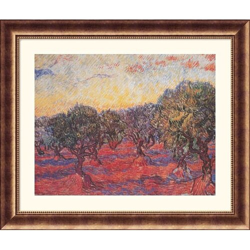 Museum Reproductions 'Olive Grove (L'Uliveto)' by Vincent Van Gogh Framed Painting Print