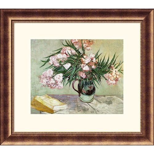 Museum Reproductions Still Life: Vase with Oleanders and Books by Vincent Van Gogh Framed ...