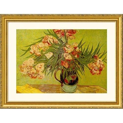 Museum Reproductions 'Vases de Fleurs (Vases of Flowers)' by Vincent Van Gogh Framed Painting ...