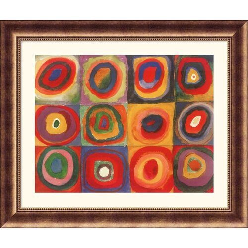Great American Picture Museum Reproductions Farbstudie Quadrate, 1913 by Wassily Kandinsky Framed Painting Print