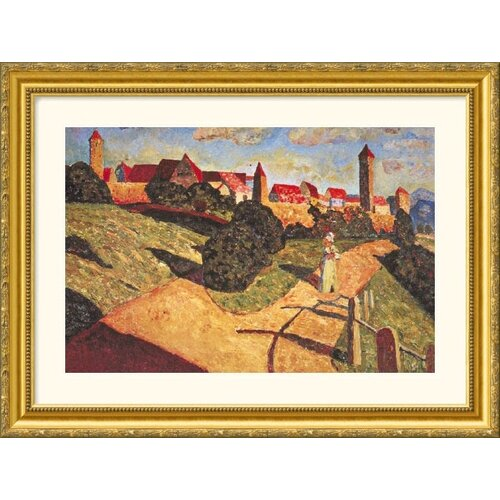 Great American Picture Museum Reproductions 'Kandinsky 15' by Wassily Kandinsky Framed Painting Print