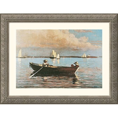 Great American Picture Museum Reproductions 'Gloucester Harbor' by Winslow Homer Framed Painting Print