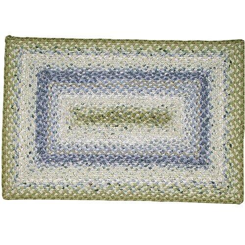 Homespice Decor Cotton Braided Seascape Rectangular Rug