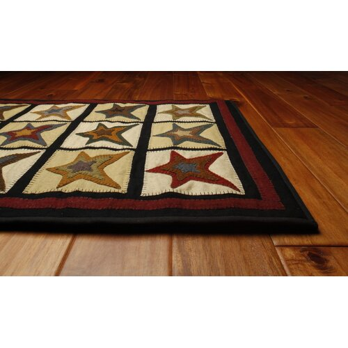 Homespice Decor Penny Star Patch Novelty Rug