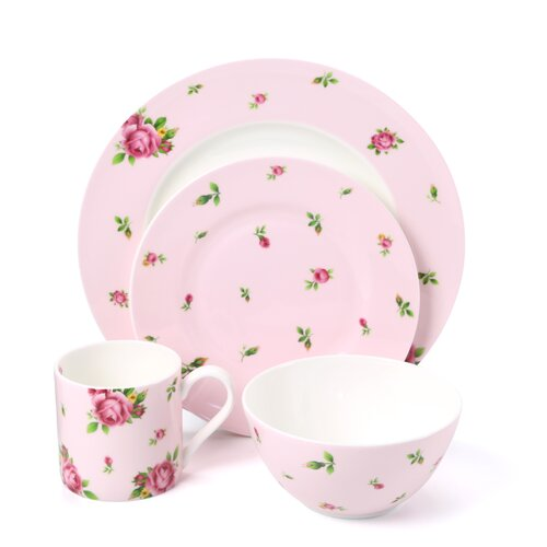 New Country Roses Casual 16 Piece Dinnerware Set