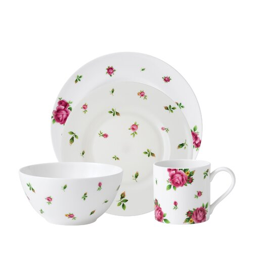 Royal Albert New Country Roses Modern Casual 4 Piece Place Setting