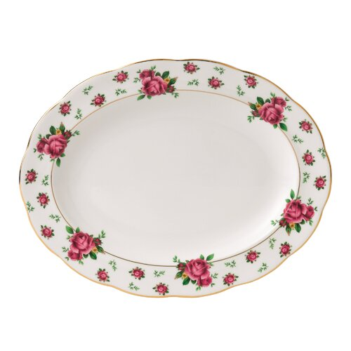 "Royal Albert New Country Roses Formal Vintage 11.6"" Oval Platter"