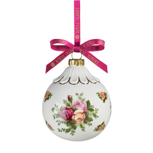 Royal Albert Old Country Roses Holiday Bauble Ornament