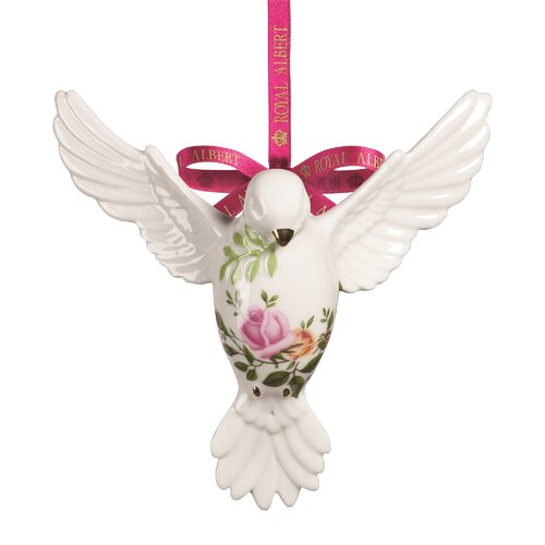 Old Country Roses Dove of Peace Ornament