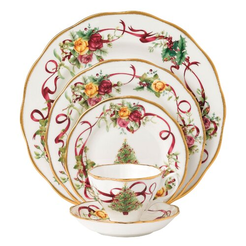 Old Country Roses Holiday 5 Piece Place Setting