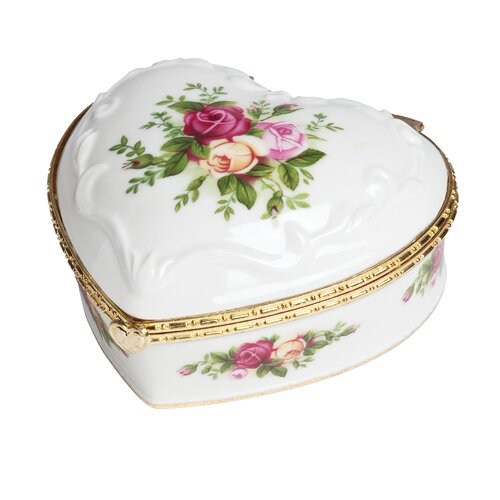 Royal Albert Old Country Roses If You Love Me Musical Box