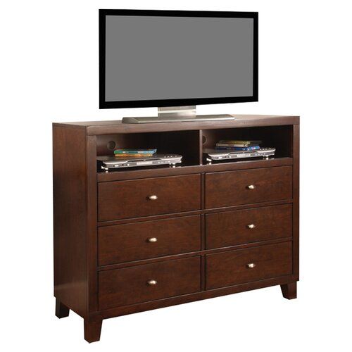 Wildon Home ® Kingman Media 6 Drawer Chest