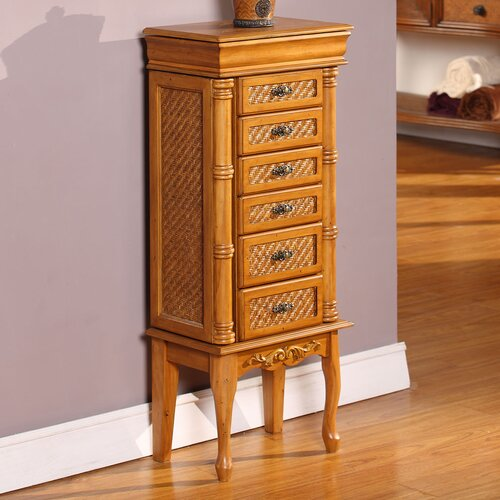 Wildon Home ® Mandalay Classic Jewelry Armoire with Mirror