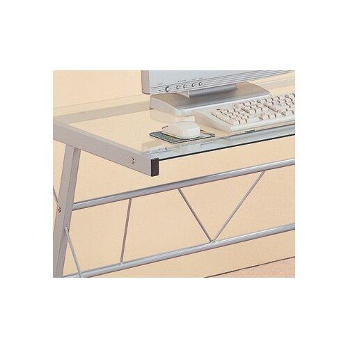 Wildon Home ® Rickreall Glass Computer Desk