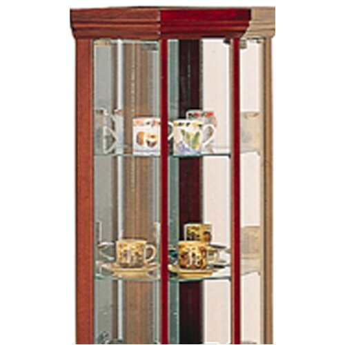 Wildon Home ® Benton City Curio Corner Cabinet with Mirror
