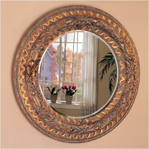 Wildon Home ® Tacoma Beveled Round Mirror