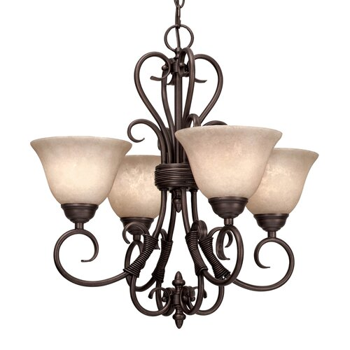 Wildon Home ® Sienna 4 Light Mini Chandelier