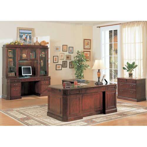 Wildon Home ® Youngtown Credenza Desk with Hutch