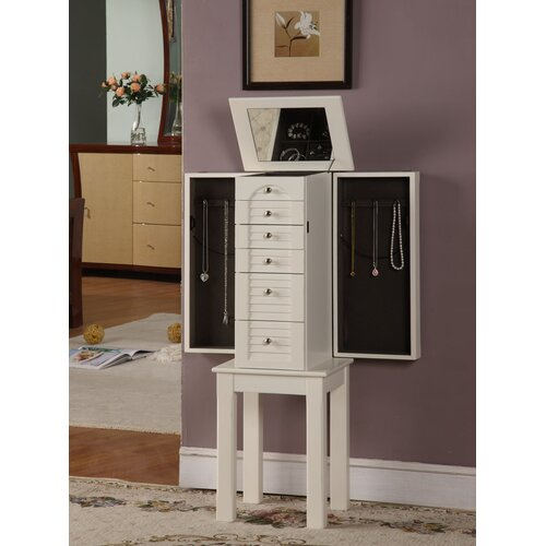 Wildon Home ® Winston 5 Drawer Jewelry Armoire with Mirror