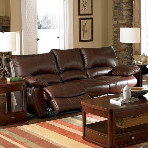 Wildon Home ® Red Bluff Dual Leather Reclining Sofa