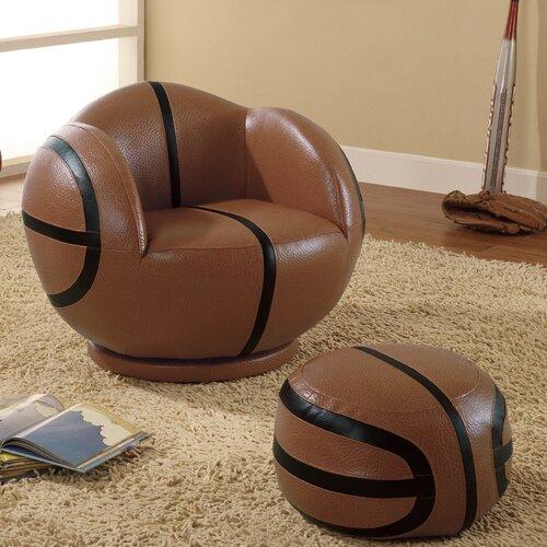 Wildon Home ® Kid's Basketball Chair and Ottoman