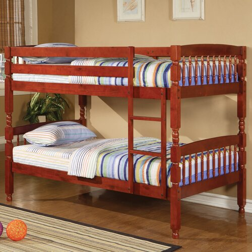 Wildon Home ® Creekside Twin over Twin Bunk Bed with Built-In Ladder