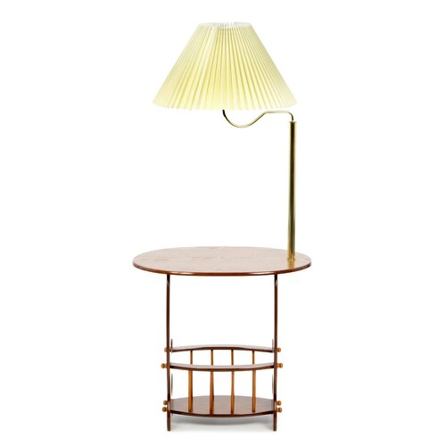 Wildon Home ® Edmonds Swing Arm Brass Lamp End Table