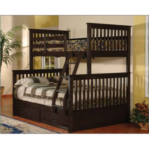 Wildon Home ® Twin Over Full Bunk Bed with 2 Storage Drawers