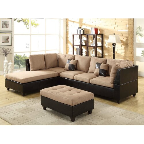 Wildon Home ® Aniela Eazy Rider Sectional with Ottoman