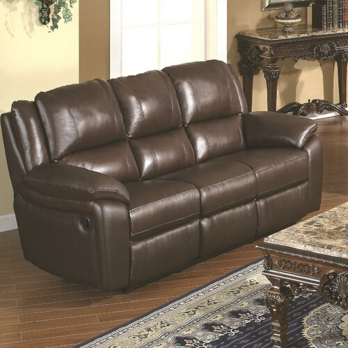 Wildon Home ® Baxtor Leather Reclining Sofa