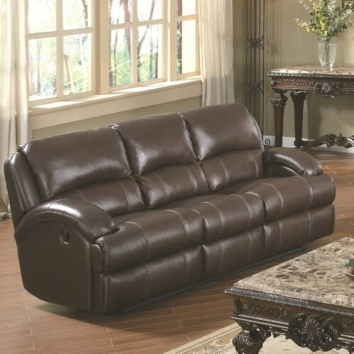 Wildon Home ® Capri Leather Reclining Sofa