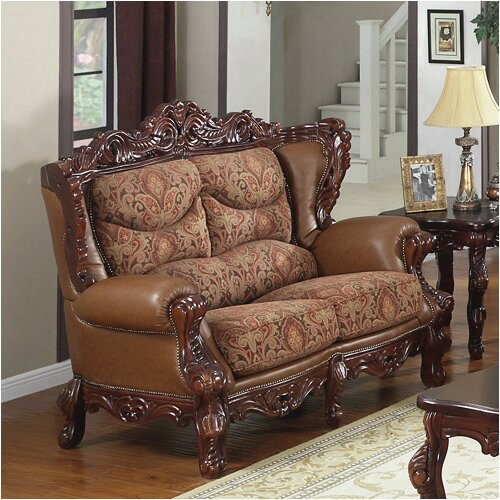 Wildon Home ® Empire Leather Loveseat
