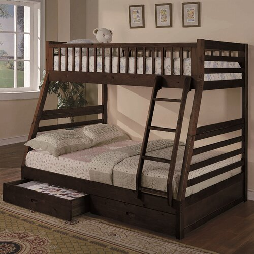 Wildon Home Twin Over Full Bunk Bed With 2 Storage