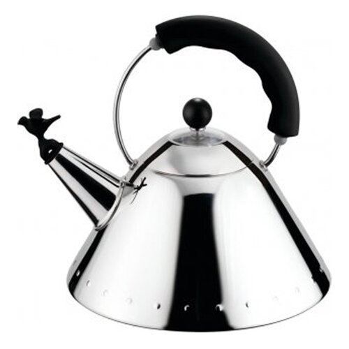 Alessi 2-qt. Signature Whistle Tea Kettle