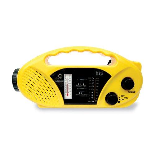 Stansport Compact Crank / Solar Battery / Radio / Flashlight