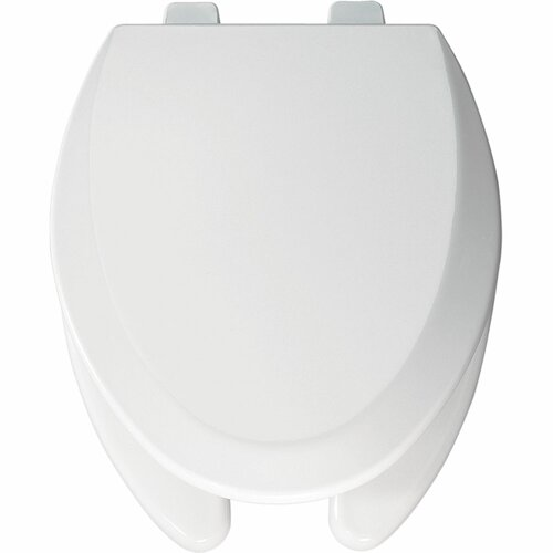 Commercial Open Front Molded Wood Elongated Toilet Seat