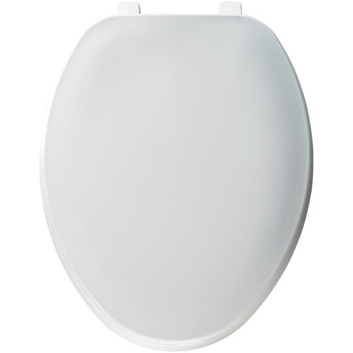 Solid Plastic Elongated Toilet Seat