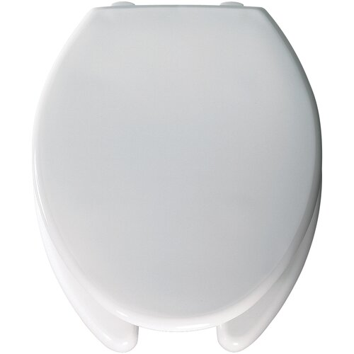 Bemis Medic Aid Lift Commercial Open Front Solid Plastic Elongated Toilet Seat