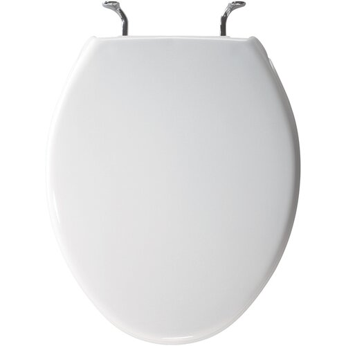 Bemis Molded Wood Decorator Solid Plastic Designed Round Toilet Seat for Case 1000 Bowl