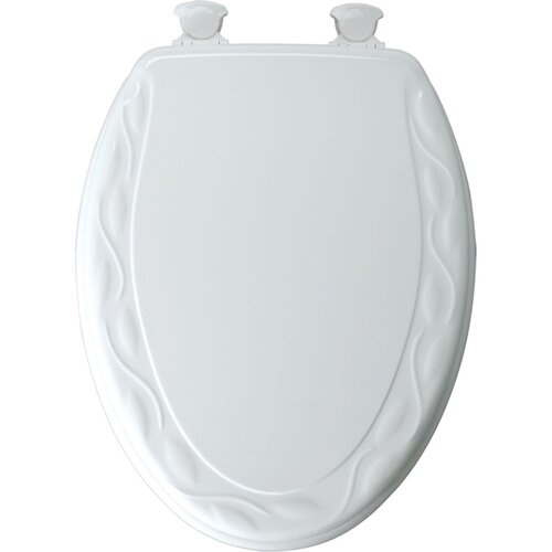 Molded Wood Ivy Design Elongated Toilet Seat
