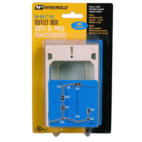 Wiremold Single Gang Utility Box