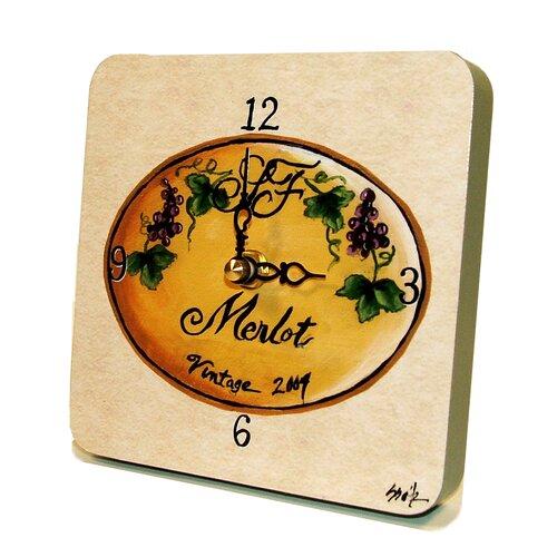 Home and Garden Merlot Tiny Times Clock