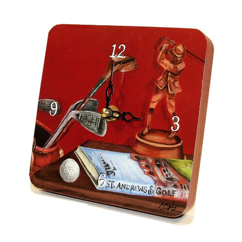 Sports Red Golf Tiny Times Clock