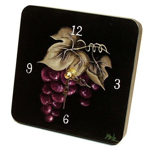 Home and Garden Grapes Tiny Times Clock