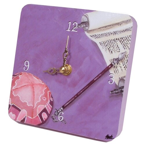 Judaica Her Bat Mitzvah Tiny Times Clock