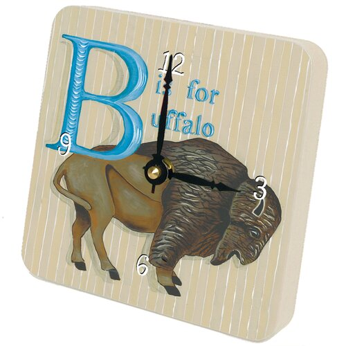 Children and Baby B is for Buffalo Tiny Times Clock